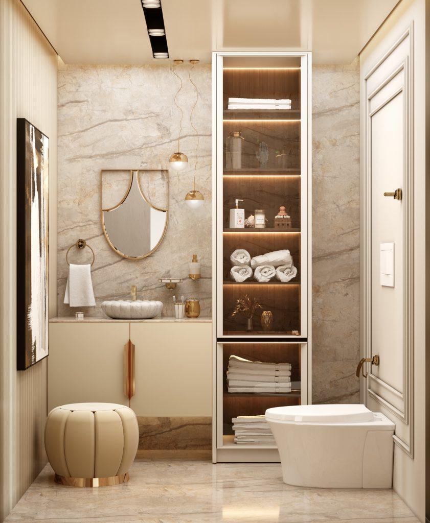 Moderní byt v Monaku - koupelna