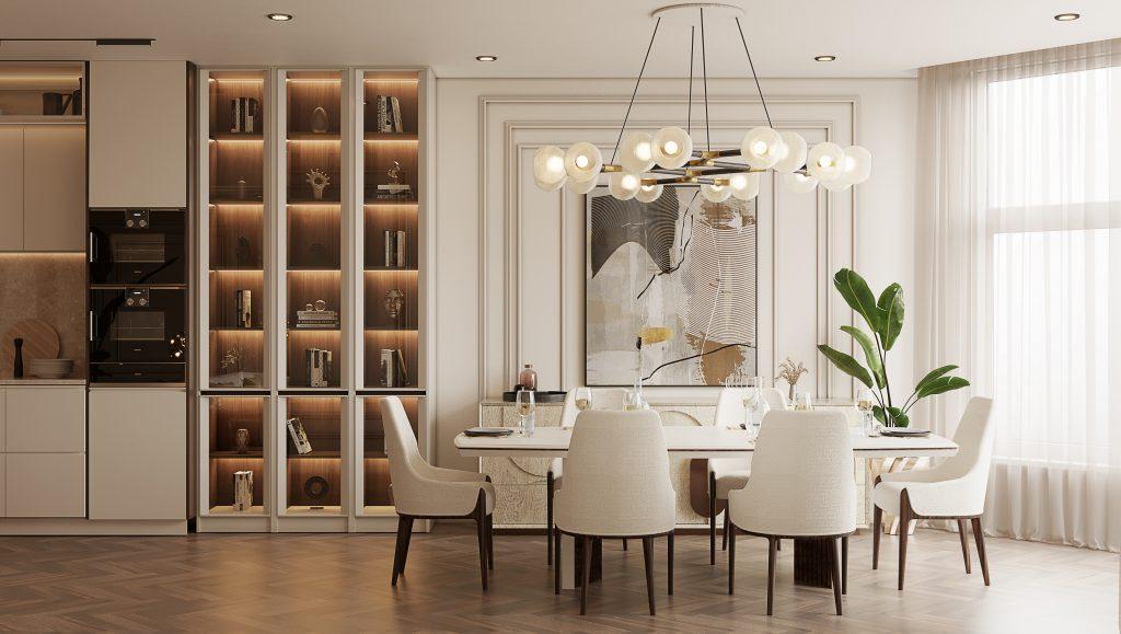 Moderní byt v Monaku - jídelna