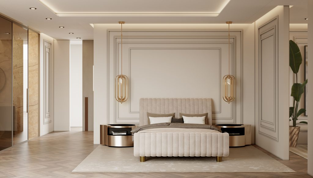 Moderní byt v Monaku - hlavní ložnice