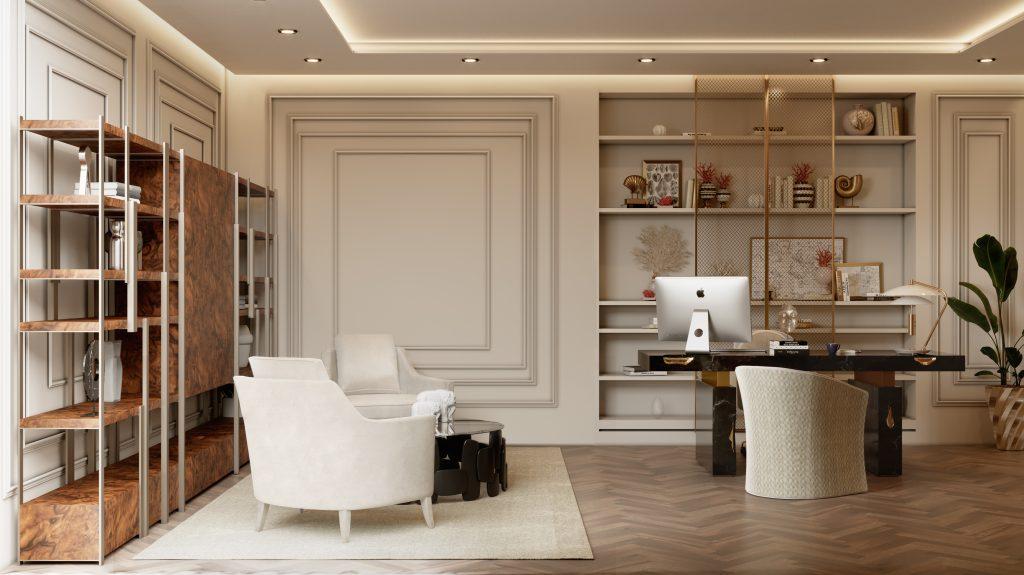 Moderní byt v Monaku - pracovna