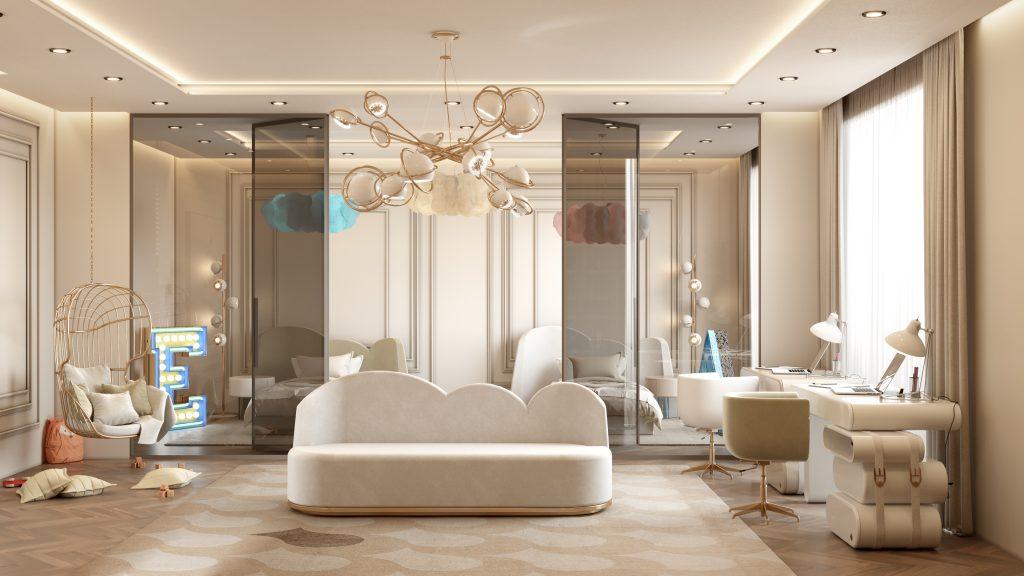 Moderní byt v Monaku - dětský pokoj